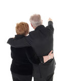 Senior couple standing from back. Royalty Free Stock Images