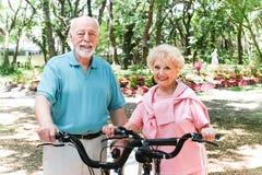Senior Couple Stays Active stock photos