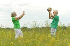 Senior couple in summer Royalty Free Stock Photo