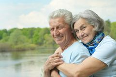 Senior couple in summer Stock Photography