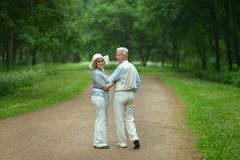 Senior couple in summer park Royalty Free Stock Photography