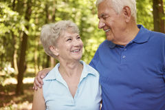 Senior couple in the summer time Stock Photo