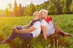 Senior couple in summer vacation Stock Photos