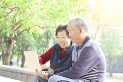 Senior couple surfing on internet Royalty Free Stock Photo