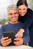 Senior couple tablet Stock Photography