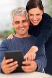 Senior couple tablet Stock Photography