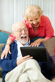 Senior Couple with Tablet PC - Laughing Stock Photography