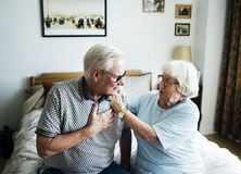 Senior couple taking care of each other Royalty Free Stock Images