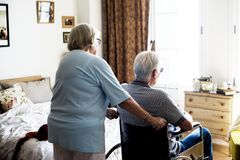 Senior couple taking care together Stock Photography