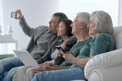 Senior couple taking selfie Stock Images