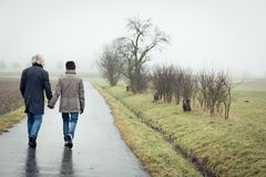 Senior Couple Taking A Walk Royalty Free Stock Image