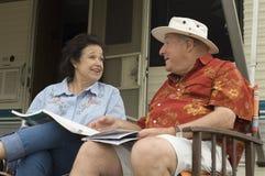 Senior Couple Talking Stock Image