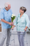Senior couple talking Royalty Free Stock Images