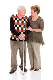 Senior couple talking Stock Photography
