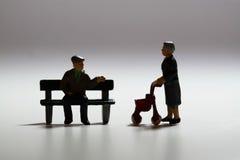 Senior couple talking A Stock Photo
