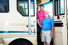 Senior Couple in their RV royalty free stock photo