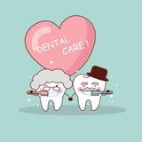 Senior couple tooth brush Royalty Free Stock Image