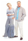 Senior couple travelers Stock Image