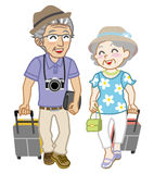 Senior couple traveller, Isolated. Vector illustration of Senior couple traveller, Isolated stock illustration