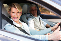 Senior couple travelling car Royalty Free Stock Photo