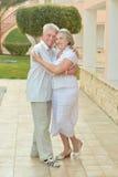 Senior couple at tropic garden Stock Image