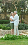Senior couple at tropic garden Royalty Free Stock Image