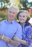 Senior couple at tropic  garden Stock Photography