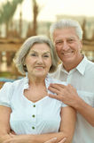 Senior couple at tropic garden Stock Image