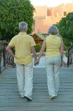 Senior couple at tropic Royalty Free Stock Image