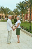 Senior couple at tropic Royalty Free Stock Images