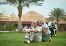 Senior couple at tropic Royalty Free Stock Photos