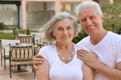 Senior couple at tropic Stock Photo