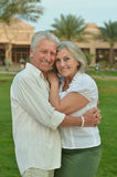 Senior couple at tropic Royalty Free Stock Photo