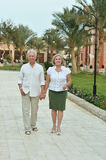 Senior couple at tropic Stock Photos