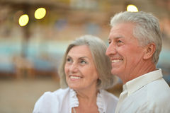 Senior couple at tropic Royalty Free Stock Photography