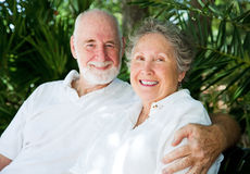 Senior Couple in the Tropics Royalty Free Stock Images