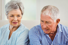 Senior couple upset with each other Stock Photography
