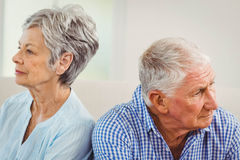 Senior couple upset with each other Royalty Free Stock Photo