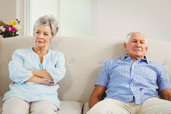 Senior couple upset with each other Royalty Free Stock Images