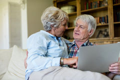 Senior couple using digital tablet Stock Photography