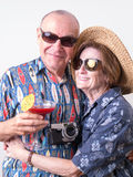 Senior Couple on Vacation Stock Photos