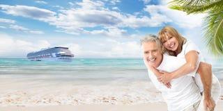 Senior couple on vacation. Stock Photography