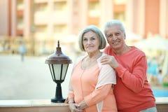 Senior couple on vacation Royalty Free Stock Photo