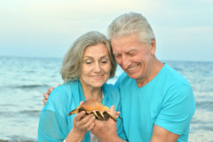Senior couple on vacation Royalty Free Stock Photos