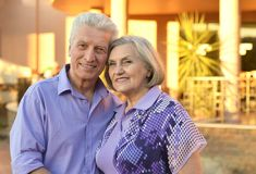 Senior couple on vacation Stock Photography
