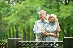 Senior couple on vacation Stock Images
