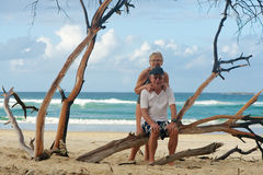Senior couple in vacation Stock Photography