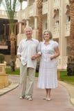 Senior couple on vacation Stock Image