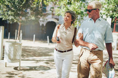 Senior couple on a vacation Stock Images