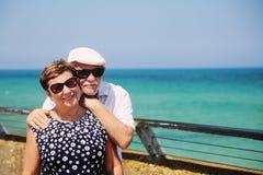 Senior couple on vacation Stock Photo
